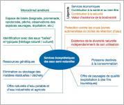 Fig. 16 - Les avantages écosystémiques des cours d'eau (d'après OFEV).