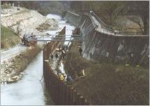 Fig.10 - Canal de test de l'Institut für Ingenieurbiologie und Landschaftbau.