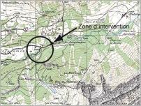 Fig. 23 - Plan de situation de l'ouvrage du pont de Cergnement.