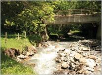Fig. 24 - Le site à l'aval du pont lors de l'état des lieux.