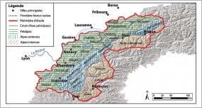 Fig.1 - Carte de localisation de la zone d'étude et des principales entités biogéographiques.